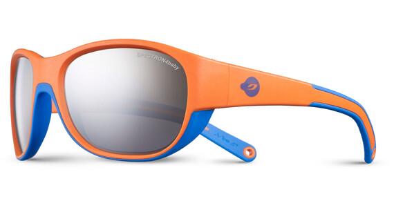 Julbo Luky Spectron 4 Sunglasses Kids 4-6Y Orange/Cyan Blue-Gray Flash Silver